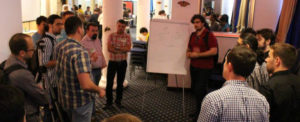 Group discussion during Open Space
